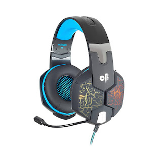 3. Cosmic Byte G1500 7.1 Channel USB Headset for PC with RGB LED Lights and Vibration (Black/Blue)