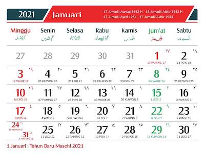 Download Kalender 2021 Gratis Format CDR, PNG