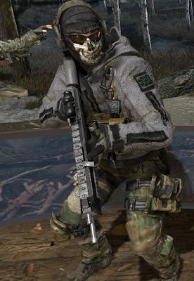 Call of DutyゴーストTF141隊員のフリースジャケット