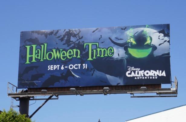 Oogie Boogie Halloween Time Disneyland billboard