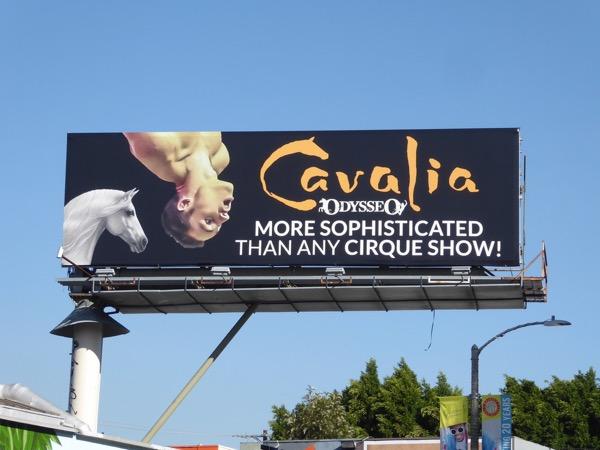 Cavalia Odysseo Cirque billboard