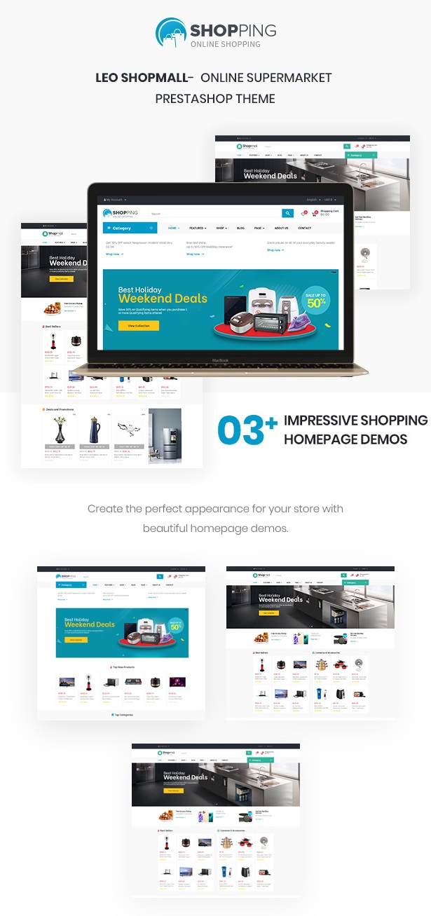Supermarket PrestaShop Electronics Theme