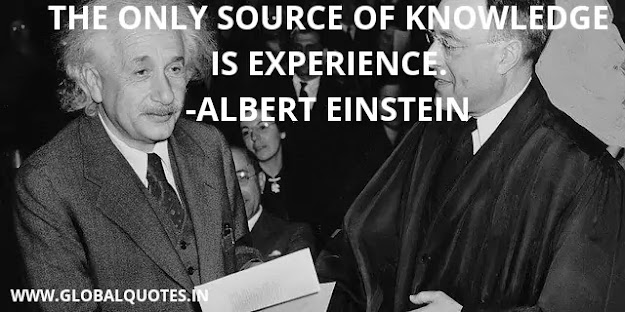 The only root of knowledge is experience.