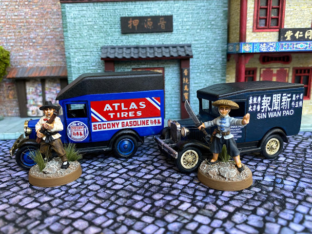 Lledo and Matchbox Diecast Vehicles for Wargaming 1920's,1930's and WW2  China in 28mm