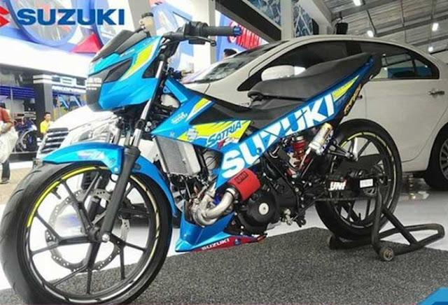 Modifikasi Motor Suzuki Satria FU Turbo! Tembus 36hp Bro..