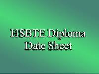 www.hsbte.org.in Date Sheet 2017