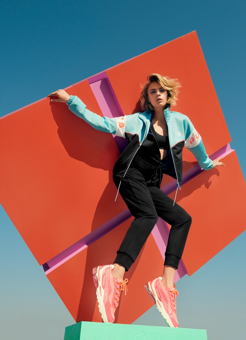 Cara Delevingne fronts PUMA Cell Stellar Neon sneaker campaign