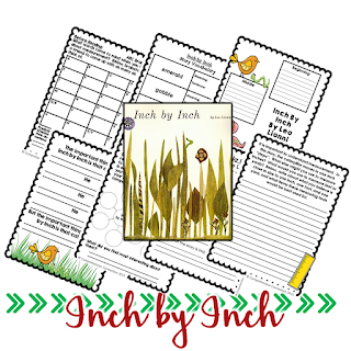Let's do some measuring!  Let your kids explore nature while they work on math. Inch by Inch, a sweet book by Leo Lionni is the perfect mentor text. Check out this post for ideas you can use with Inch by Inch and six other Lionni books.