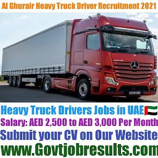 AI Ghurair Heavy Truck Driver Recruitment 2021-22