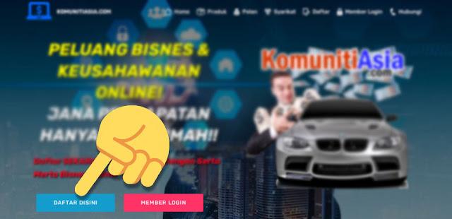 Bagaimana cara daftar komunitiasia.com