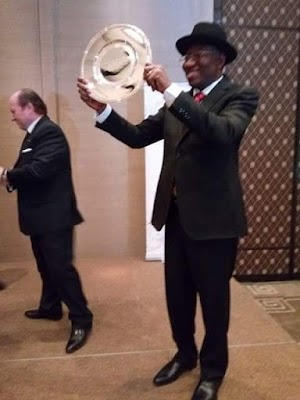 Ex-President Jonathan Honoured With Father Of Democracy Award (Photos)
