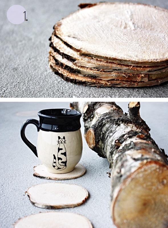 34 Wood Slice Home Décor Ideas: Studio34E: 3 ιδέες με φέτες ξύλου -- 3 Wood Slice Ideas