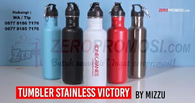 Tumbler Victory, Stainless Steel Tumbler, Tumbler Mizzu, Victory Tumbler, Tumbler Promosi, Botol Minum Mizzu, Botol Minum Victory