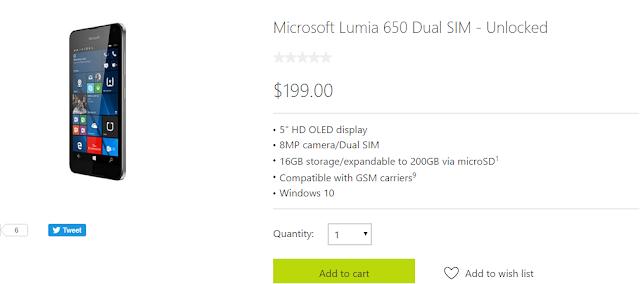 Buy Lumia 650