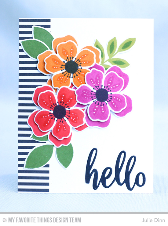 Handmade Card from Julie Dinn featuring the Flashy Florals Card Kit #mftstamps