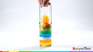 Density Rainbow Column