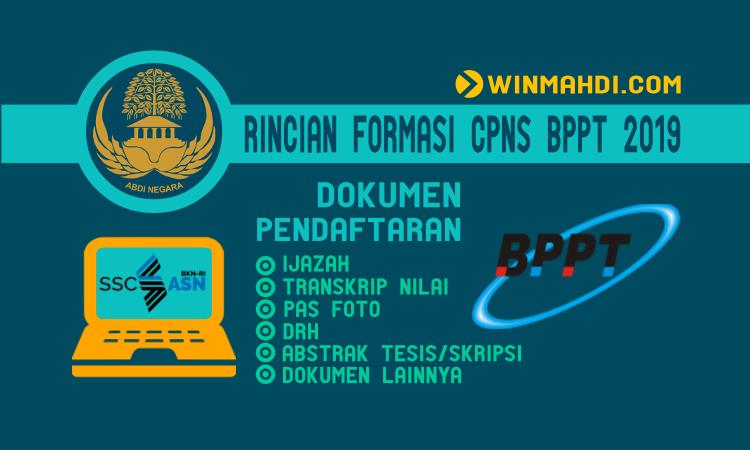 RINCIAN FORMASI CPNS BPPT 2019