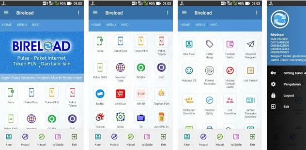 5 Aplikasi Server Pulsa Android Modal Kecil