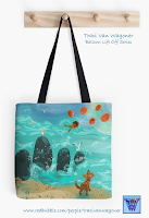 Balloon Lift Off Graphic Tote Bag from Redbubble, art by Traci Van Wagoner