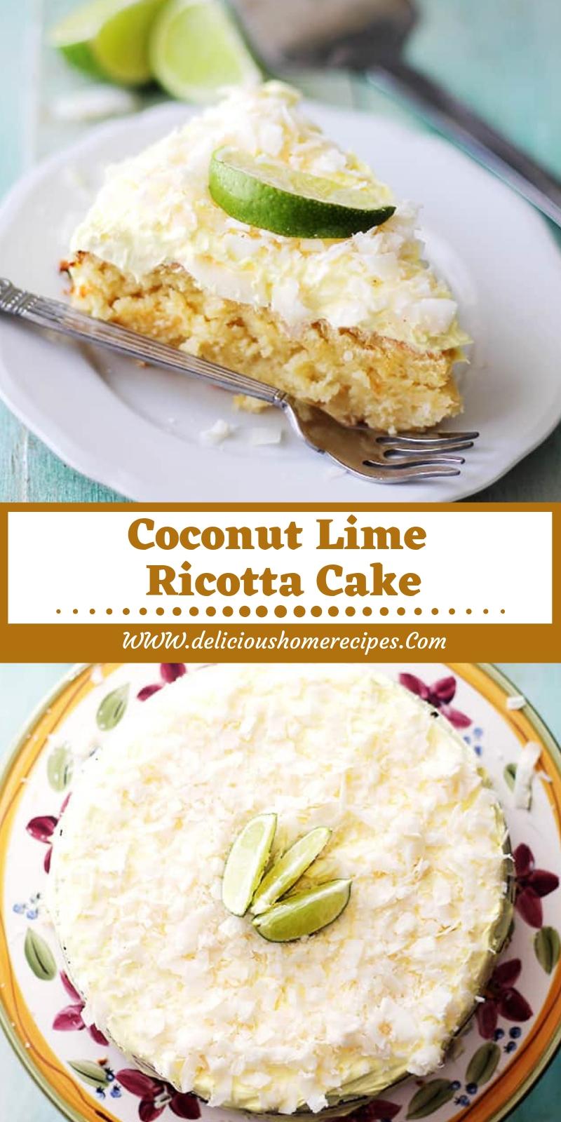 Coconut Lime Ricotta Cake