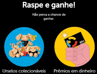 Cadastrar Promoção Raspe e Ganhe Elo Cartão Prêmios em Dinheiro e Ursos Pelúcia