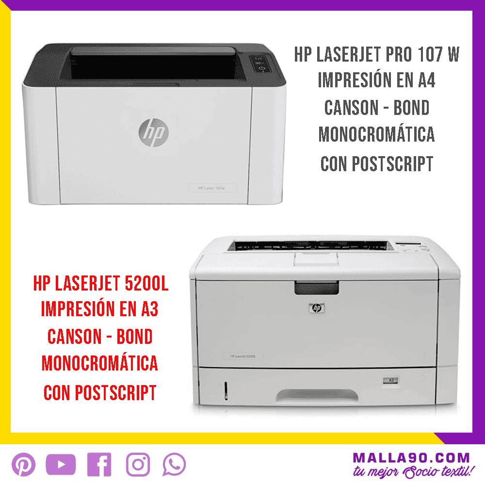 impresoras laserjet hp para positivos