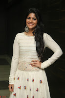Megha Akash in beautiful White Anarkali Dress at Pre release function of Movie LIE ~ Celebrities Galleries 004.JPG