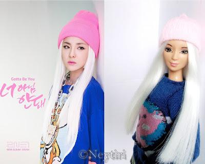 2ne1 barbie doll Dara Gotta Be You comparision