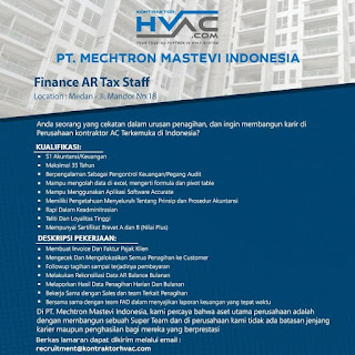 Finance AR Tax Staff di PT Mechtron Mastevi Indonesia