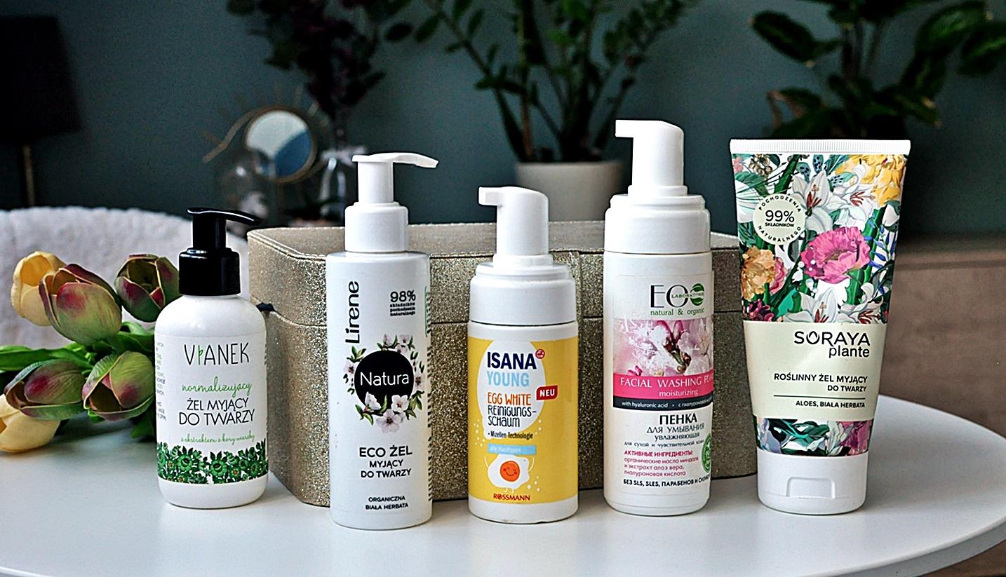 Tanie i dobre produkty do mycia twarzy z dobrym składem -  dostępne w Rossmann, Hebe i Triny.pl