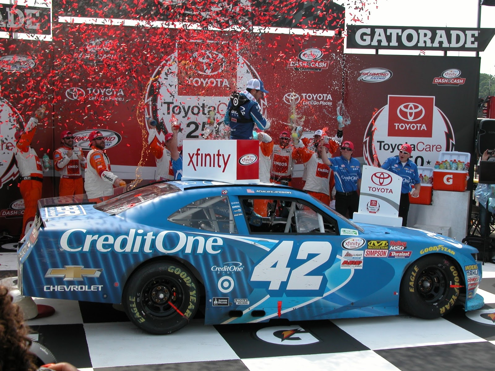 Kyle Larson Earns Surprise Win In The ToyotaCare 250 Skirts And Scuffs