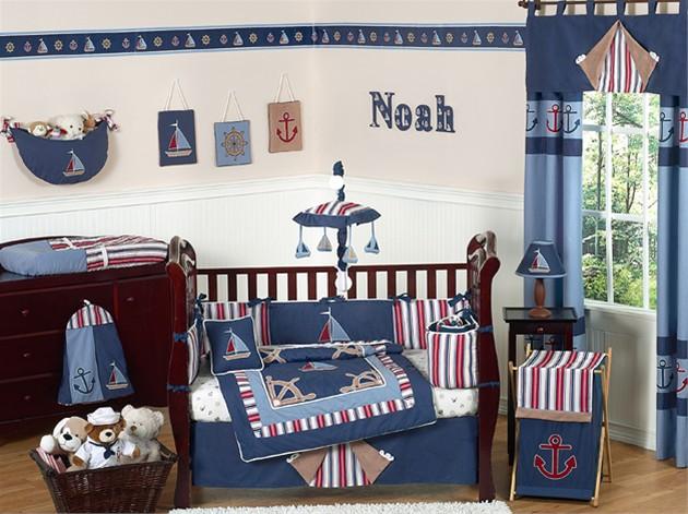 home basement design ideas: Baby Room Theme - All Blue Sea