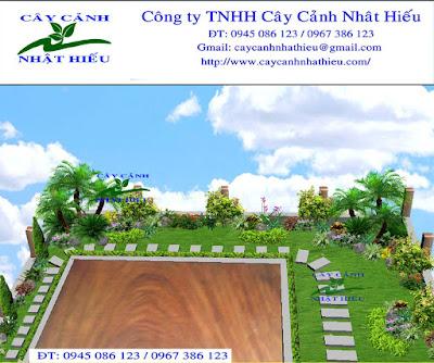 Thiết kế sân vườn đẹp phong thủy