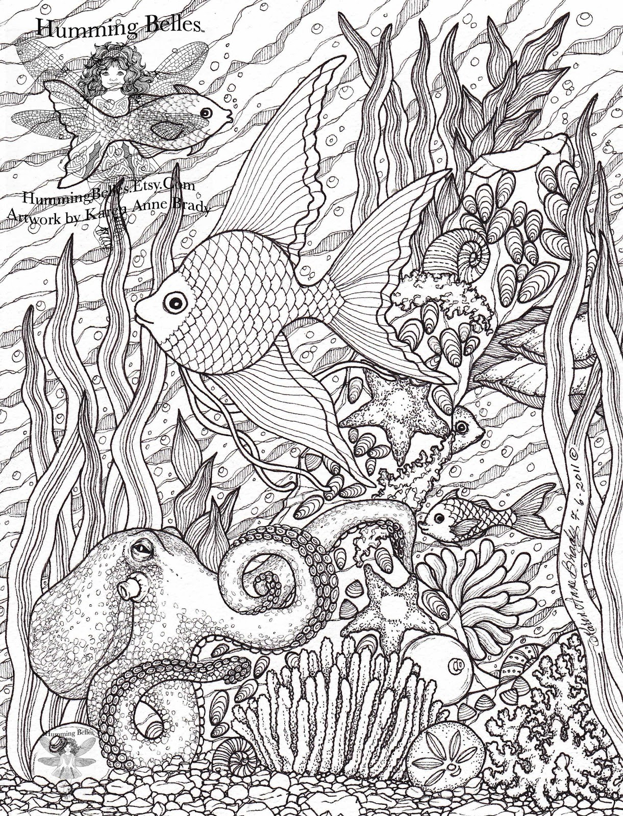 Humming Belles New Undersea Illustrations And Coloring Pages