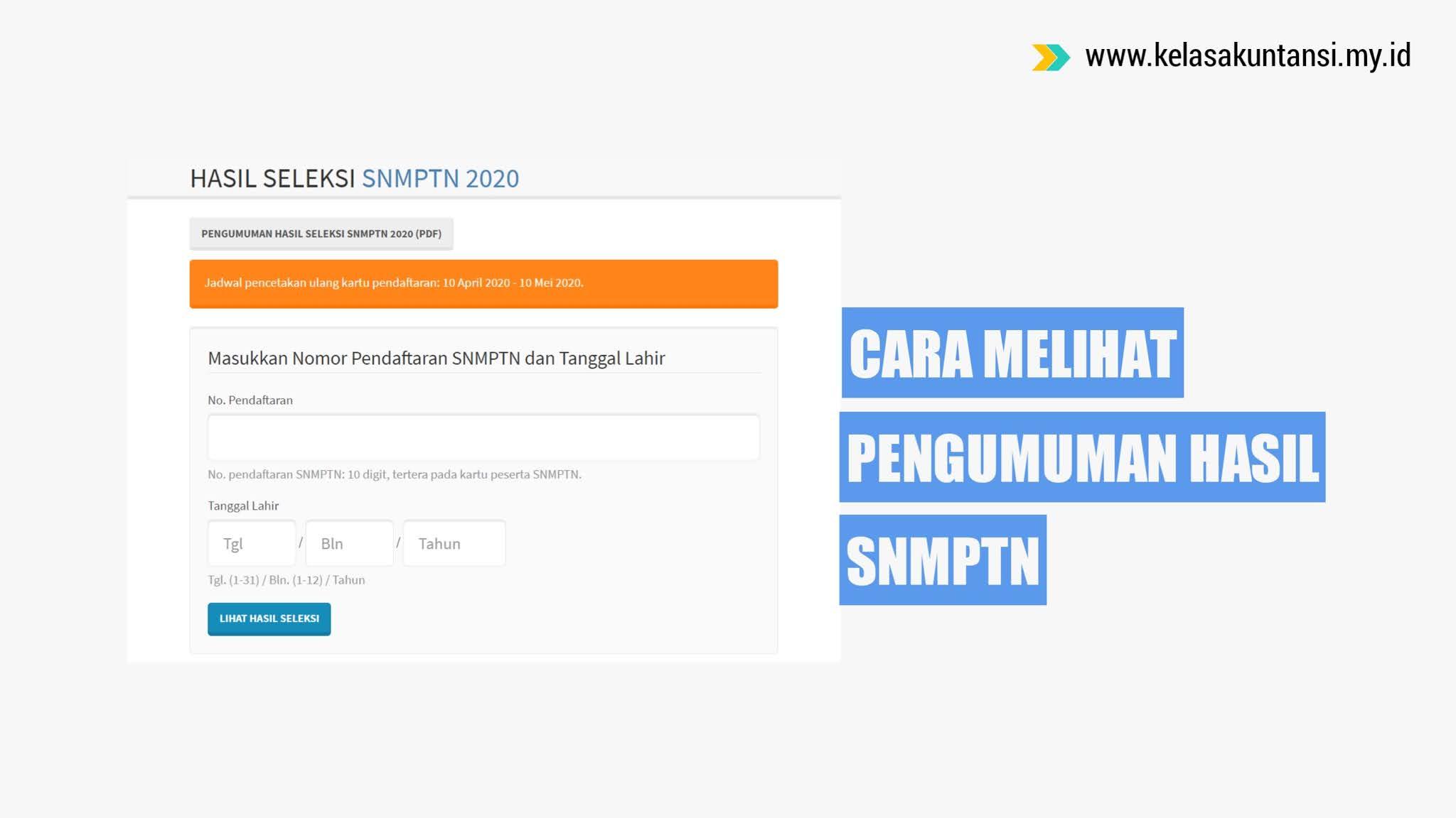 Cara Melihat Pengumuman Hasil SNMPTN