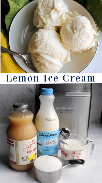 If you love a good citrus dessert, you are in for a treat. This ice cream is simple as can be to make and has a big blast of lemony flavor.  The texture is smooth and creamy.  It really is just about as good as it gets.  Whip up a batch to see for yourself.