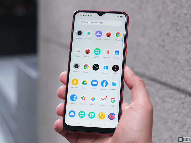 There is a 5MP selfie cam in the notch