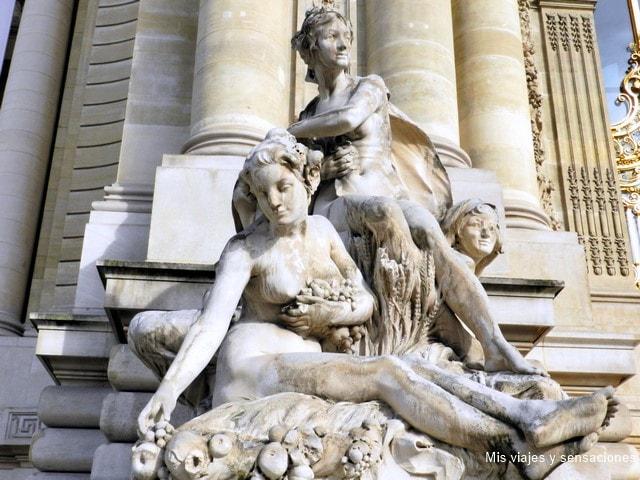 Escultura Las Cuatro Estaciones, Louis Convers, Museo Petit Palais, París