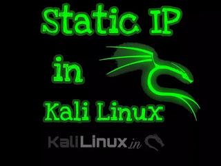 static ip in kali linux