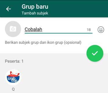 Memberi Nama Grup Wa Baru
