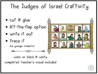 https://www.biblefunforkids.com/2019/11/the-judges-of-israel-song-and-craftivity.html