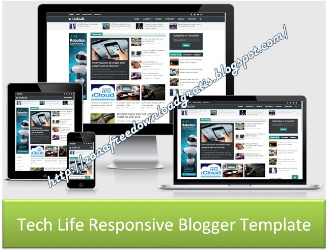 Tech Life Responsive Blogger Template