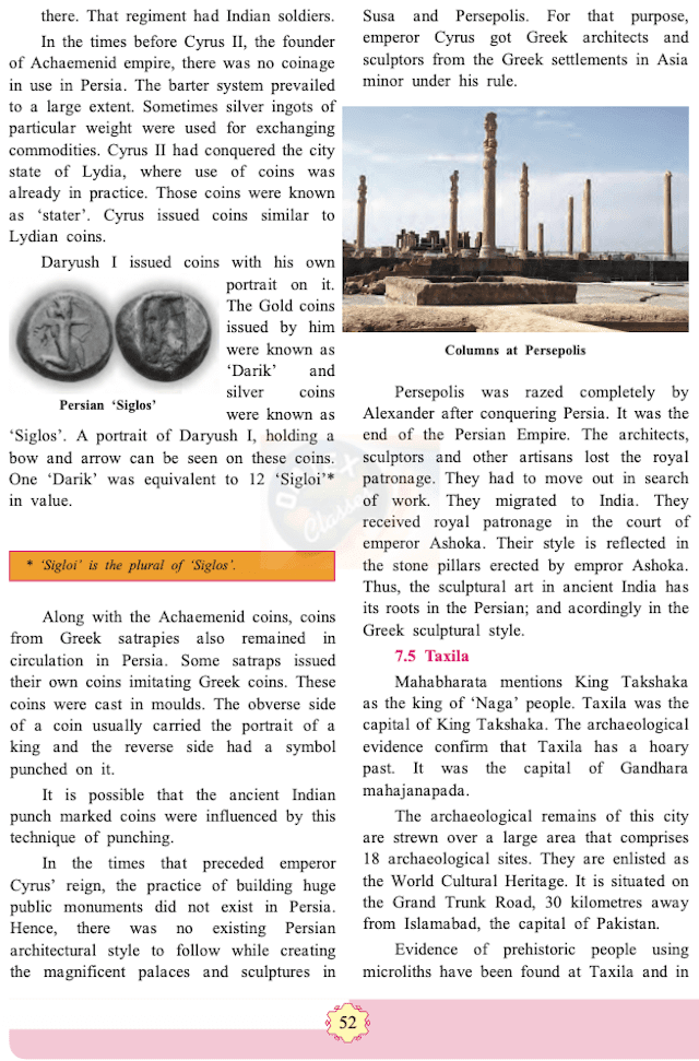 Chapter 7 - India and Iran (Persia) Balbharati solutions for History 11th Standard Maharashtra State Board