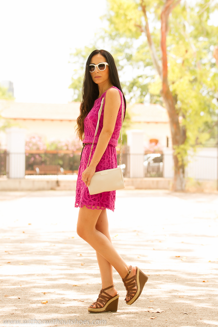 Moda Influencer Fuchsia Or Blog Without Shoes Crochet DressWith AqSc54jR3L