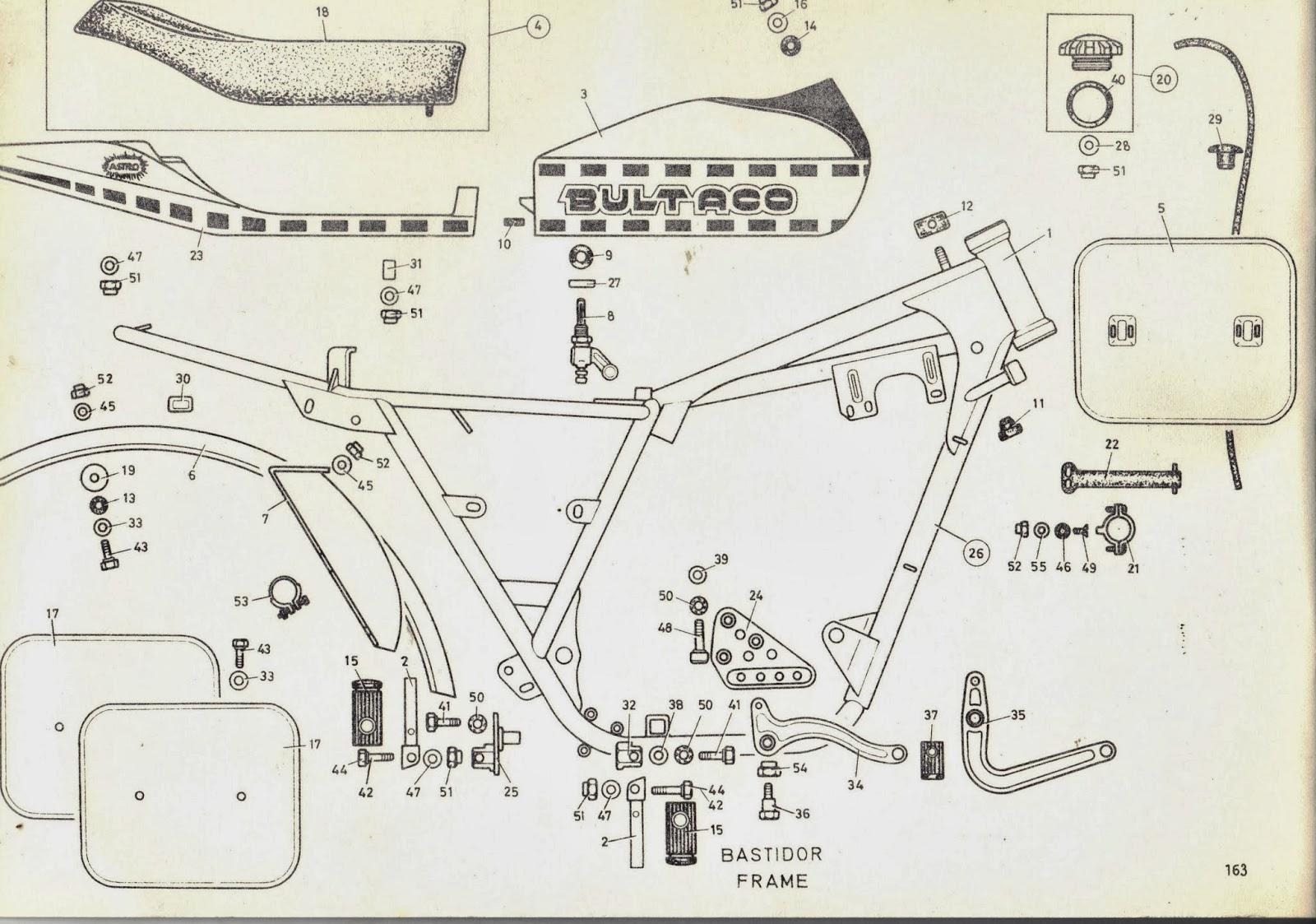 bultaco astro frame and bodywork