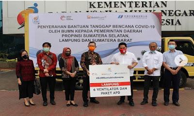 Pemprov Lampung Terima Bantuan Tanggap Bencana Covid-19 dari Kementerian BUMN