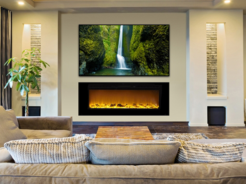 Touchstone Adds New Sideline 60-inch Electric Fireplace