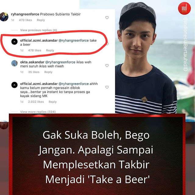 Azmi Askandar Syubbanul Muslimin takbir take a beer