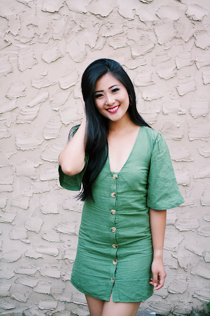 Jadoregrace.com // Green Button-Up Dress