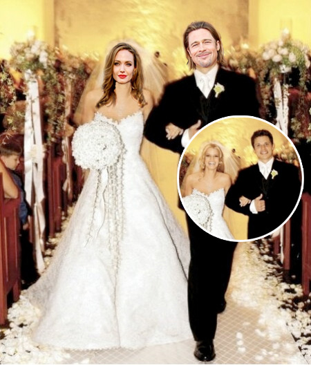 Choose The Wedding Dress For Angelina Jolie